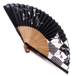 japanese fan in cotton and bamboo, TOMBO, Libellulle