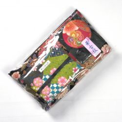 Japanese cotton bag with fabric case and mirror, 1887-1, black