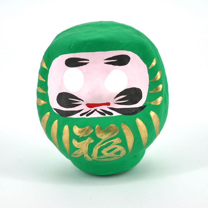 japanese doll, DARUMA, green
