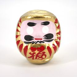 japanese doll, DARUMA, golden