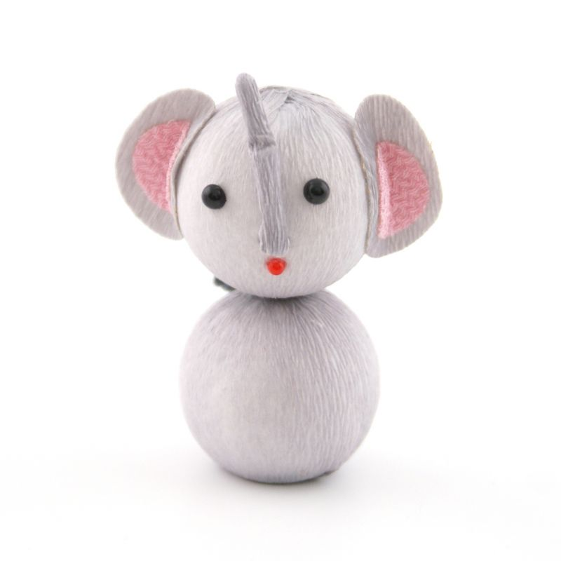 japanese okiagari doll, ZO, Gray elephant