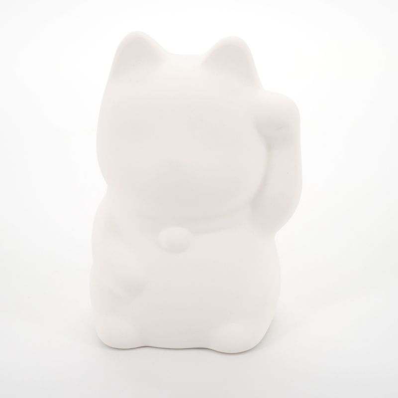 lucky piggy bank in ceramic to paint oneself, PLANE-LEFT, cat left paw