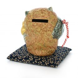 piggy bank with cushion, FUKURÔ CHOKIN-BAKO, owl
