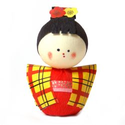 japanese okiagari doll, KOMACHI, young lady