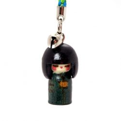 decoration for mobile phone, KOKESHI, wood