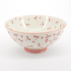 Japanese ceramic rice bowl , KOYUKI TOMBO, dragonfly